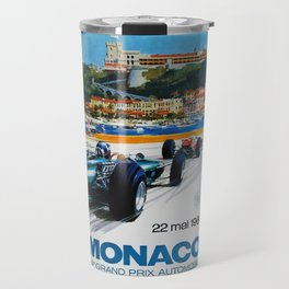 Gran Prix de Monaco, 1966, original vintage poster Travel Mug
