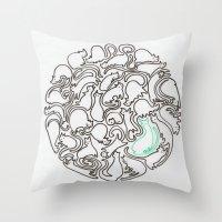 kittens Throw Pillows featuring Kittens by Audur Yr