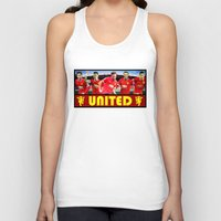 manchester Tank Tops featuring Manchester Football Club by Sport_Designs