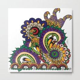 Hello 70s! Corally Metal Print