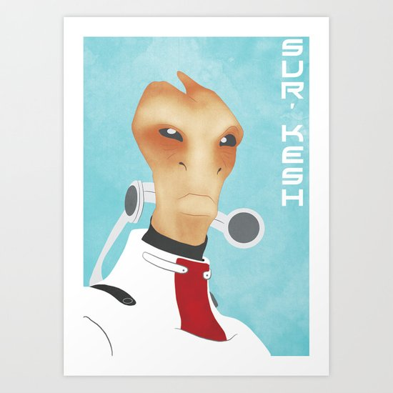Sur'kesh - Mass Effect Art Print