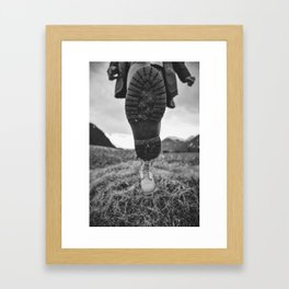 Let's Explore (Black and White) Framed Art Print
