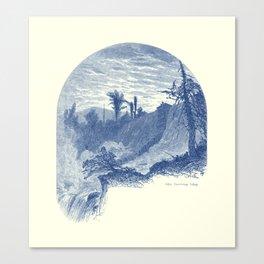 Lower Falls, Ticonderoga (cyan) Canvas Print