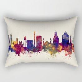 Durham North Carolina Skyline Rectangular Pillow
