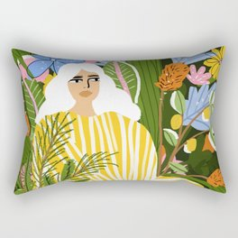 The Jungle Lady Rectangular Pillow