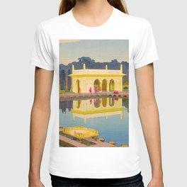 The Shalimar Gardens in Lahore Japanese Woodblock Print Hiroshi Yoshida T-shirt