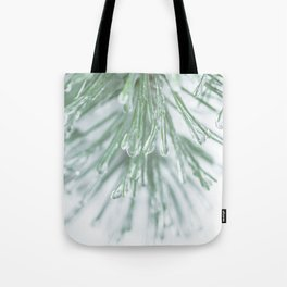 Icy Pine Needles Tote Bag