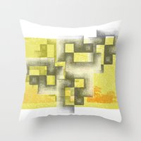 labyrinth Throw Pillows featuring Labyrinth by Sally Rud