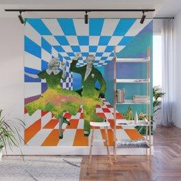 je danse de la réflexion Wall Mural