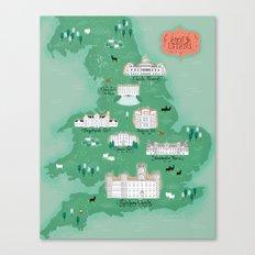 English Estates Map Canvas Print