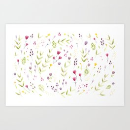 Berry Bouquet Art Print