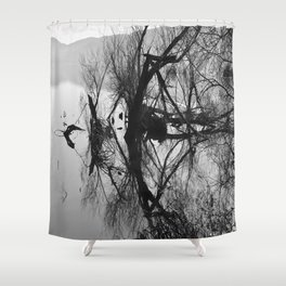 Mirrored branches Shower Curtain