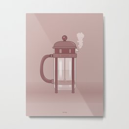 Coffee Maker Series - French Press Metal Print