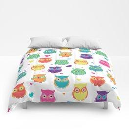 Rainbow Owl Cuties Comforters