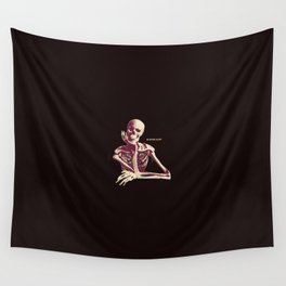 Skeleton Waiting Wall Tapestry