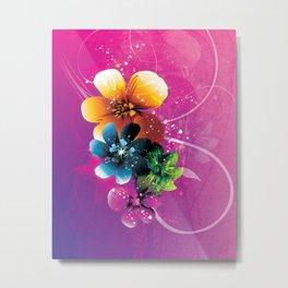 Floral Mystique Metal Print