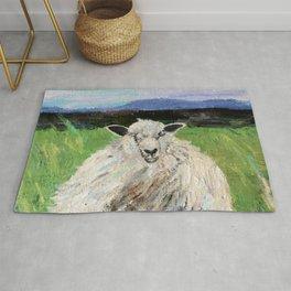 Big fat woolly sheep Rug
