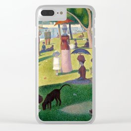"""Georges Seurat """"A Sunday Afternoon on the Island of La Grande Jatte"""" Clear iPhone Case"""