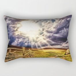 'May the Road Rise Up to Met You' Landscape Painting by Jeanpaul Ferro Rectangular Pillow