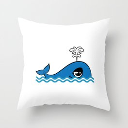 "Cute and adorable ""Comic Whale"" tee design for you and your friends! Give the best tee this holiday! Throw Pillow"