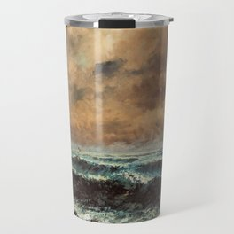 Autumn Sea by Gustave Courbet Travel Mug