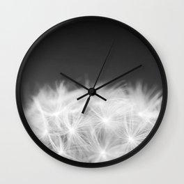 Dandelion Blowball Closeup Black and White #decor #society6 #buyart Wall Clock