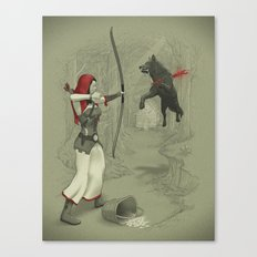 Little Red Robin Hood Canvas Print