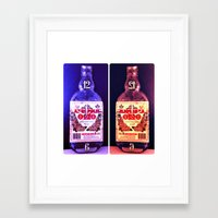 alcohol Framed Art Prints featuring Alcohol Time by grkboy88