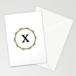 Vintage Letter X Monogram Stationery Cards
