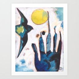 Bird and Hand Art Print