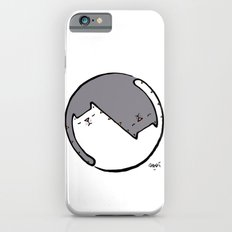 yin yang cat BW iPhone 6s Slim Case