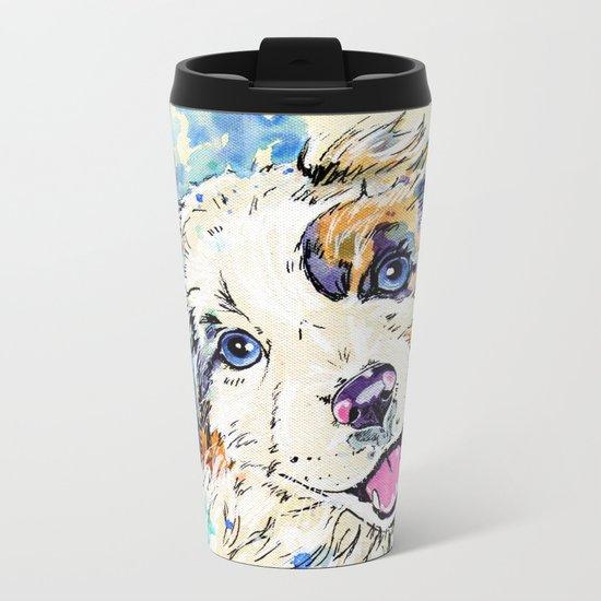 Aussie Pup Metal Travel Mug