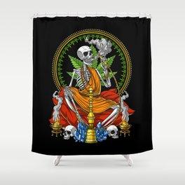 Buddha Skeleton Stoner Shower Curtain