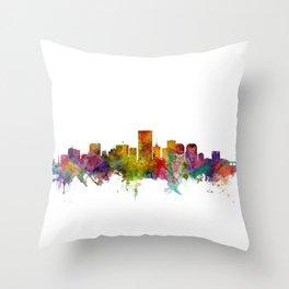 Richmond Virginia Skyline Throw Pillow