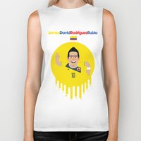 colombia Biker Tanks featuring James Rodriguez - Colombia by Gary  Ralphs Illustrations