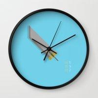 the mortal instruments Wall Clocks featuring Mortal Sword by kilianyutani