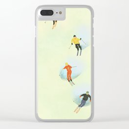 Skiing at High Speeds Clear iPhone Case