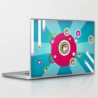 disco Laptop & iPad Skins featuring Disco by Klara Aldana