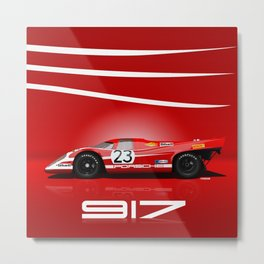 Porsche 917-023 1970 Le Mans Winner Metal Print