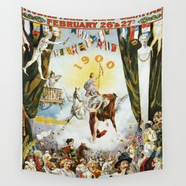 Vintage poster - Mobile Mardi Gras Wall Tapestry