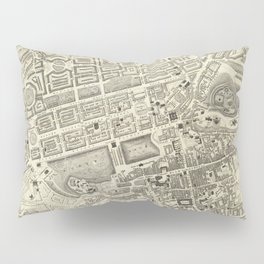 Vintage Map of Edinburgh Scotland (1844) Pillow Sham
