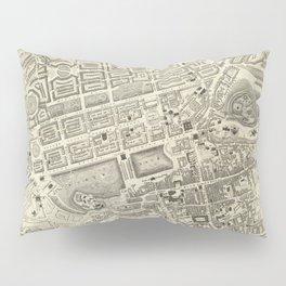 Vintage Map of Edinburgh Scotland (1844) Pillow Sham