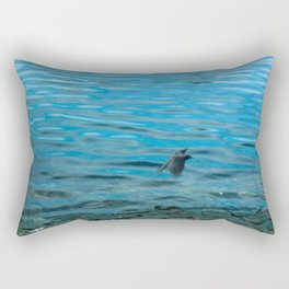 Blurry Crow Rectangular Pillow