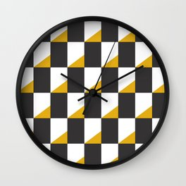 Retro Pattern - New York Wall Clock