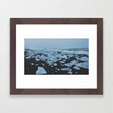 Ice & Sand Framed Art Print