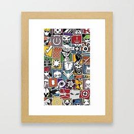 Rainbow 6 Operator Sticker Bomb Framed Art Print