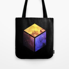 Nebula Cube - Black Tote Bag