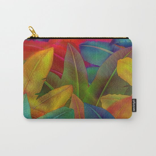 Exotic Leaf Pattern Carry-All Pouch