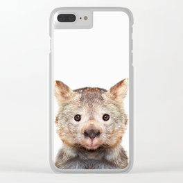 Wombat Photography Clear iPhone Case