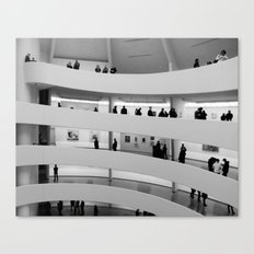 People at Guggenheim Museum Canvas Print